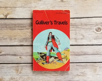 Gulliver's Travels Jonathan Swift Illustrated Classic Pocket Classics Small Paperback Car Trip Book Teen Classic Nautical Decor Teen Retro