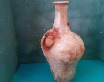 Saggar fired large bottle