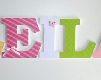 LEILA - Deco letters 20 cm - first name