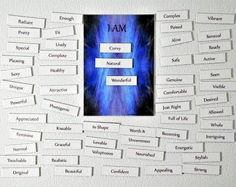 Body Beautiful Magnetic Affirmation Kit, Gift with Meaning, Power Thought Magnets, Intention Magnets, Womens Empowerment, Feel Good Gift