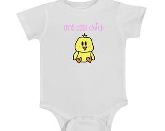 Easter onesie, cool chick, newborn onesie, baby onesie, cute onesie, funny onesie, trendy onesie, toddler easter shirt