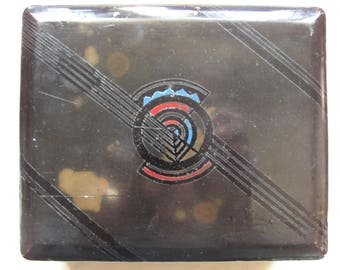 A old black lacquered trinket box