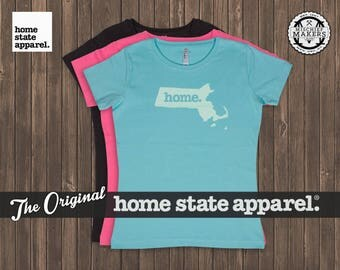 Massachusetts Home. T-shirt- Women's Relaxed Fit