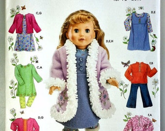 Simplicity 4786- Sewing pattern for 18 Inch Doll Clothes- Fits American Girl Dolls