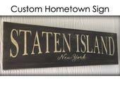 Custom Hometown Sign, Handpainted Sign, City Sign, State Sign, Rustic, Vintage Sign, New York, CT, California, Texas, Iowa, Virginia, Nevada