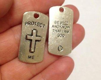 Moving Clearance Sale Protect Me  Metal Charm Pendants