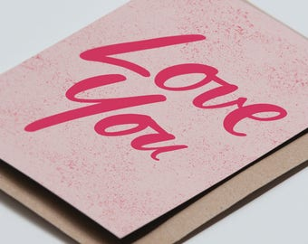 Lots of Love greeting card
