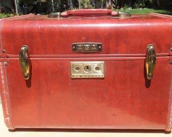 Vintage Samsonite Leather Train Case