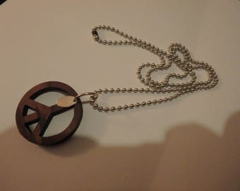 vintage sterling silver wood peace necklace chiossone & co