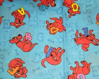 Clifford The Big Red Dog ABC's Fabric