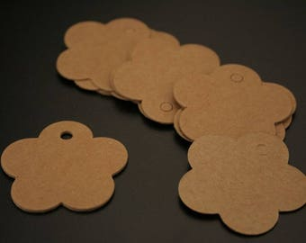 "20 color ""kraft"" cardstock tags. (ref:3234)."