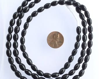 Vintage black Czech trade beads