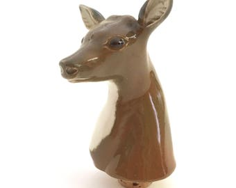 ceramic deer head etsy