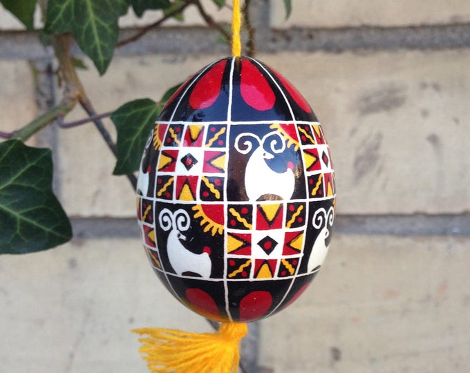 "Ukrainian Pysanka ""Holly Ram""- an Easter egg"