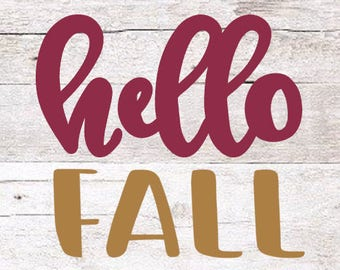 Hello Fall Decal   Fall Decal   Fall Yeti Decal   October Decal   Happy Fall   Fall Time Decal   November Decal   Yeti Decal   Fall Laptop