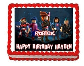 Roblox with logo party decoration edible cake image cake topper frosting sheet