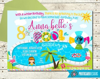 Half birthday invitation | Etsy