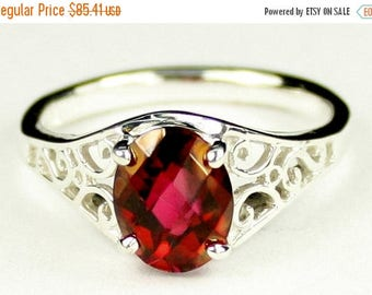 On Sale, 20% Off, Crimson Fire Topaz, 925 Sterling Silver Ring, SR005