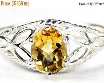 On Sale, 30% Off, Citrine, 925 Sterling Silver Ring SR137,