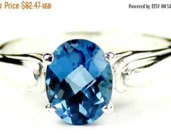 On Sale, 30% Off, London Blue Topaz, 925 Sterling Silver Ring, SR058