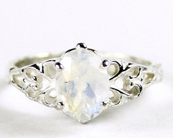 On Sale, 30% Off, Rainbow Moonstone, 925 Sterling Silver Ring, SR302