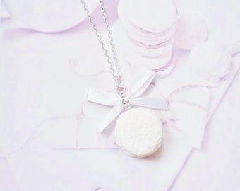 necklace macaron coconut polymer clay