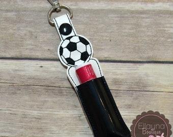 Lip Balm, Chapstick, Flash Drive, USB Drive Holder - Soccer