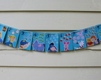 Vintage Pooh and Friends Bunting (Blue)