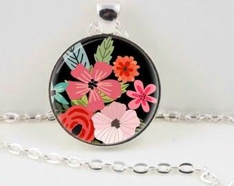 Bright Flowers Necklace, Flower Pendant, Jewellery, Flower Jewellery, Gift for Her, Australian Made