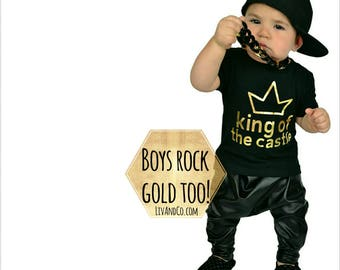 King of the Castle, Baby Boy Clothes, Toddler Boy Shirt, Boy Gift, Newborn Boy Clothing, Infant Boy Clothes, Baby Shower Gift Boy, Liv & Co.