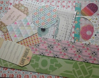 Cute collage pack mixed media scrapbook