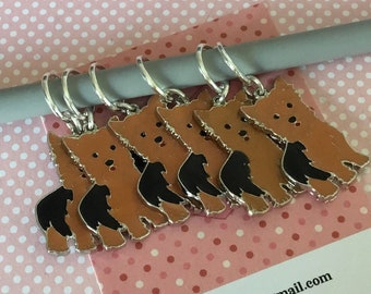 Yorkshire Terrier stitch markers, Yorkie knitters,  Yorkie crocheters, stitch markers, gift for a knitter, gift for a crocheter