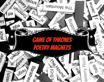 Game of Thrones Poetry Magnets - Refrigerator Word Quote Magnets
