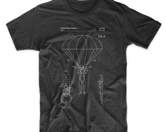 Parachute 1982 Patent Shirt, Skydiving, Army T shirt, Combat, Soldier Gift, PP0187