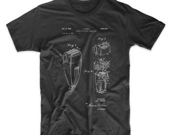 Electric Shaver Patent T Shirt, Bathroom Shirt, Vintage Razor, Barber Shop Shirt, PP1011