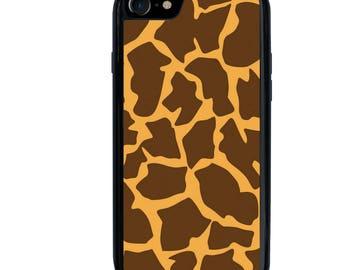 iPhone 5 5s 6 6s 6+ 6s+ SE 7 7+ iPod 5 6 Phone Case, Giraffe Spots Design, Animal, Plus