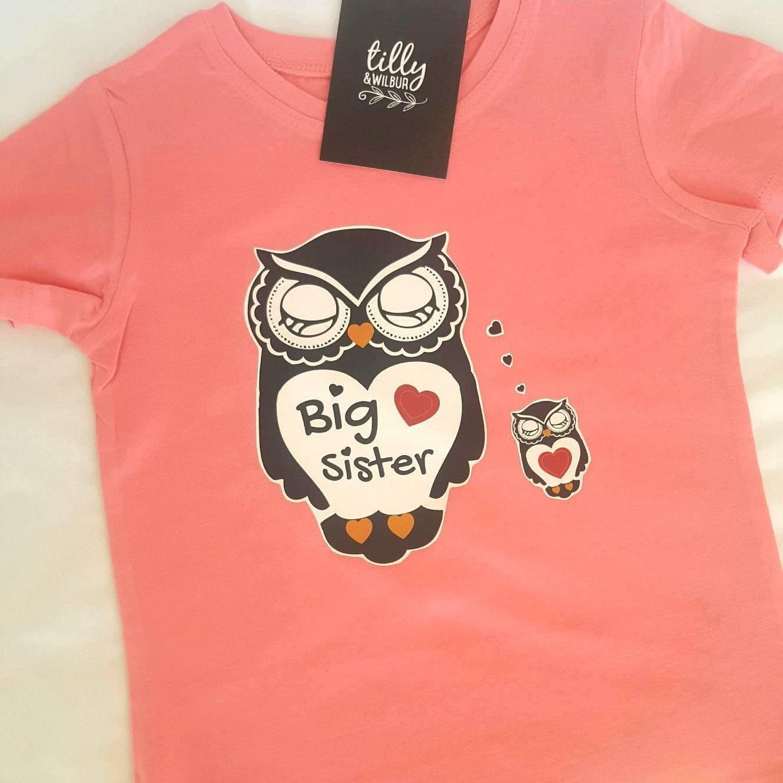 big sister t shirt for girls. Black Bedroom Furniture Sets. Home Design Ideas