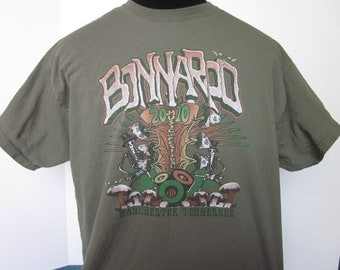 Classic BONNAROO MUSIC FESTIVAL Manchester Tennessee Olive Green Tee Shirt-X Large Cotton