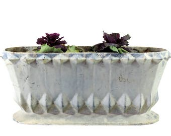 French Vintage Jardiniere/Vintage Planter/Art Deco Planter/Antique Jardiniere/Cast Iron Jardiniere/Antique French Large Cast Iron Planter