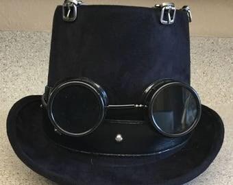 Steampunk Goggles Black Top Hat