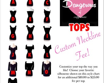 Custom Neckline Fee for (1) Hardley Dangerous Couture Pin Up Top