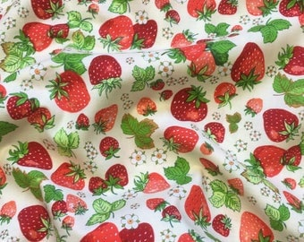 Nutex Just Dessert Fruit Strawberries Patchwork Quilting Dressmaking Fabric