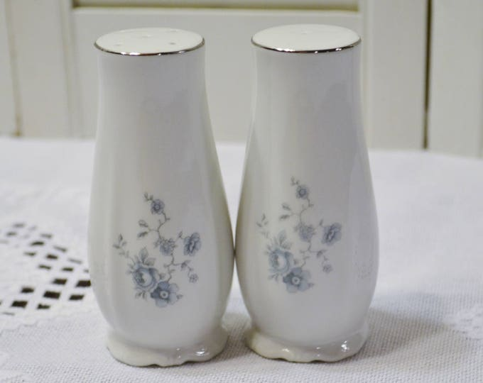 Vintage Haviland Blue Garland Salt and Pepper Shaker Set Blue Floral Bavaria Johann Haviland Replacement PanchosPorch