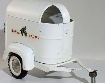Vintage Tonka 1960 - 1964 Farms Horse Trailer