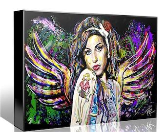 Amy Winehouse Art, Soul Singer Canvas, Blues Original Painting Art Print