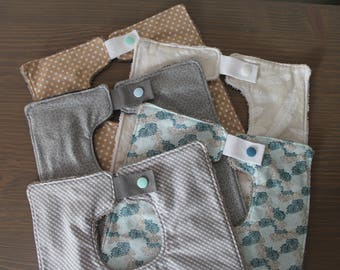 Neutral Bibs - Nice Baby Bibs - Baby Shower Gift - 1st Birthday Bib - Natural/Brown/Grey/Teal Bib