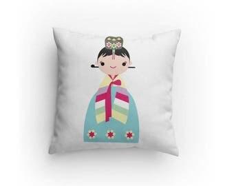 Korean Girl Princes hanbok Pillow