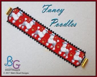 FANCY POODLES Peyote Cuff Bracelet Pattern