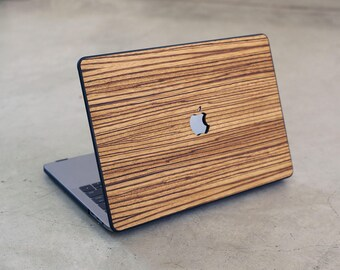 Wood MacBook Case Zebrawood Hard Shell Real Wood Case for MacBook 12 Pro 13 15 Retina TouchBar Air 11 13
