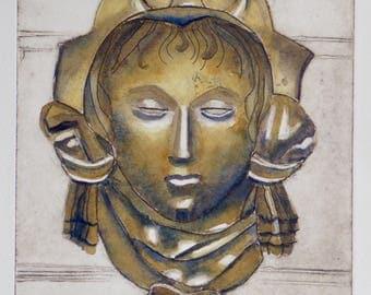 Ham House III - bronze sculpture, architectural, architecture, historic, antique, 17th Century,
